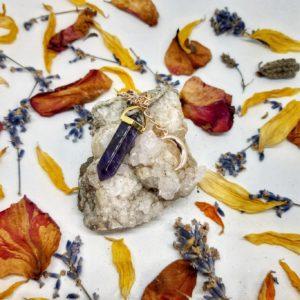 apothecary Magicka amethyst moon necklace