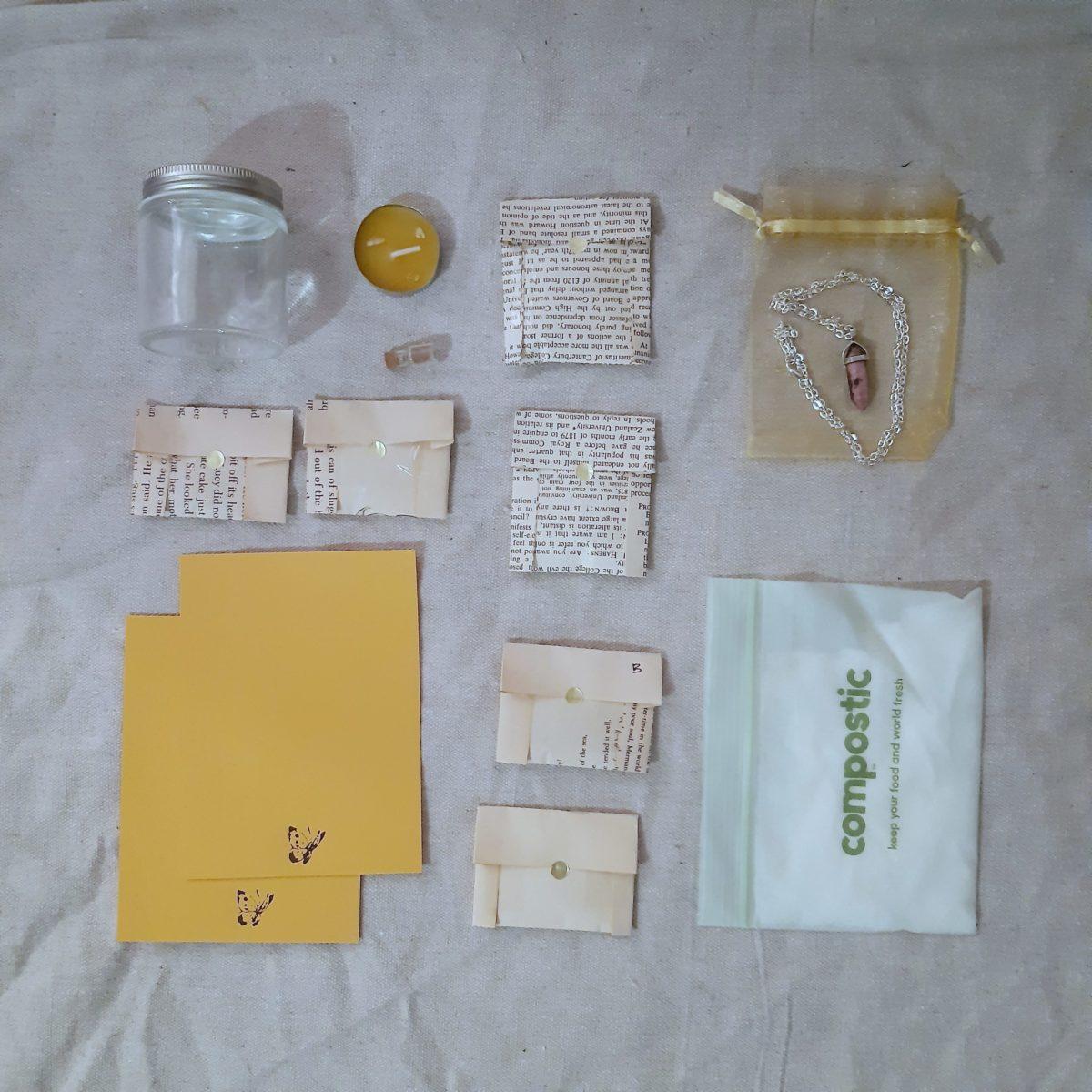 apothecary Magicka spell box january 21 flat lay