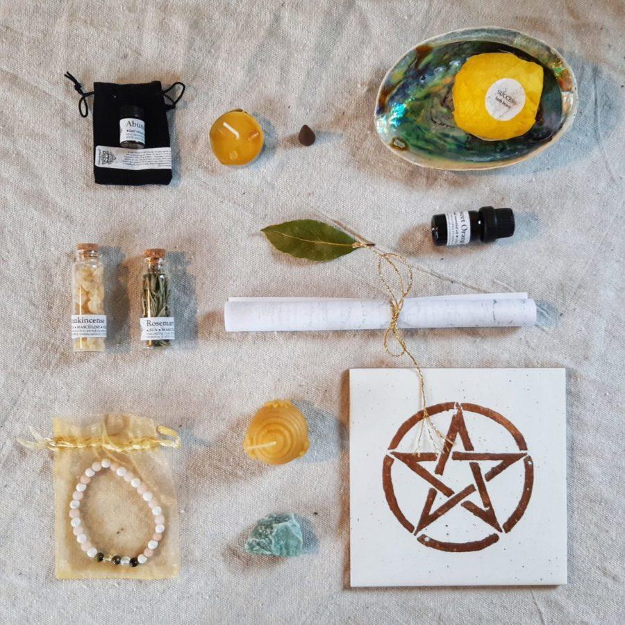 apothecary Magicka magick box dec 2020 flat lay