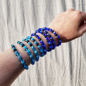 apothecary magicka glass evil eye protection bracelets