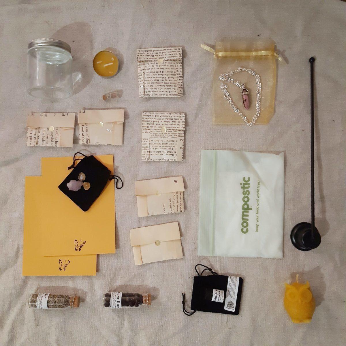 apothecary Magicka magick box january 21 flat lay