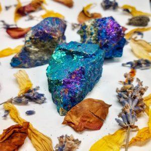 apothecary Magicka raw chalcopyrite peacock ore