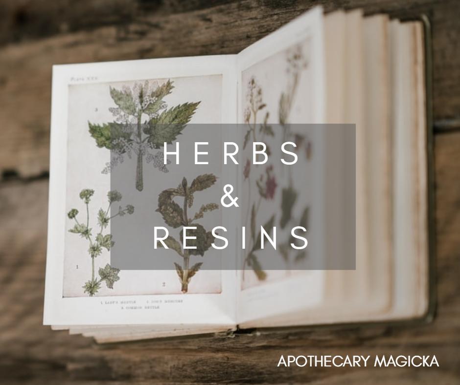 apothecary magicka herbs and resins