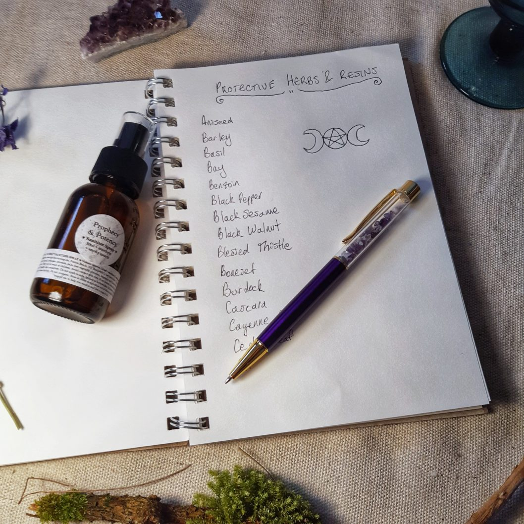 apothecary Magicka amethyst pen and pentacle diary