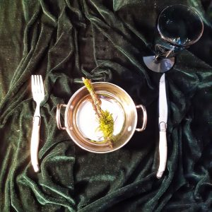 apothecary Magicka offering bowl and glass chalice