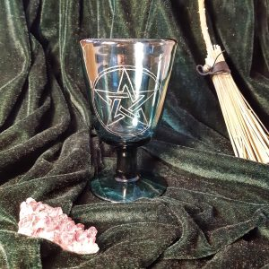 apothecary Magicka pentacle blue glass chalice 4